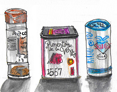 Spices & Condiments illustration