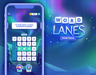 Word Lanes Interface