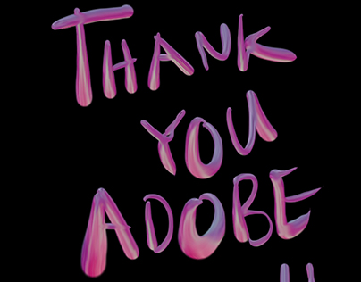 THANK YOU ADOBE