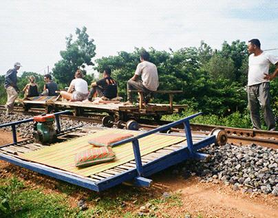 Bamboo train, Battambang, Cambodia