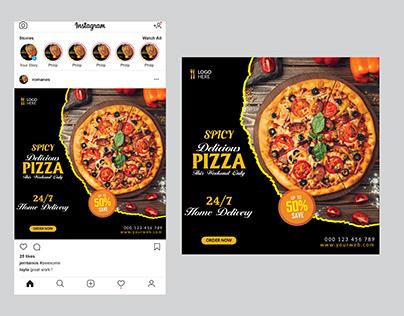 Pizza Social Media Post Design