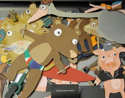 paper cut animals (for circus chapito, beshart)