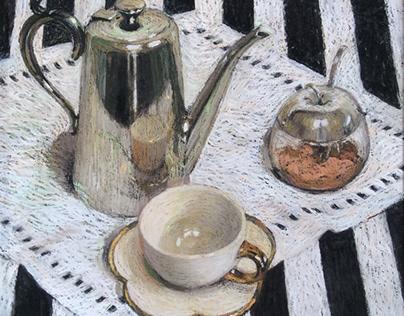 Caffe per Uno - Study in Silver and Black