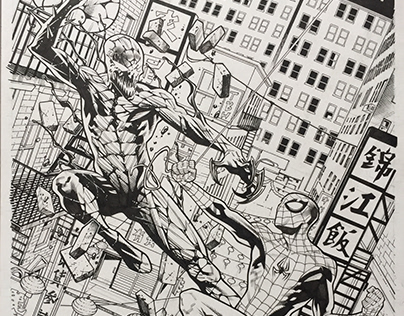 SPIDERMAN VARIANT COVER INKS