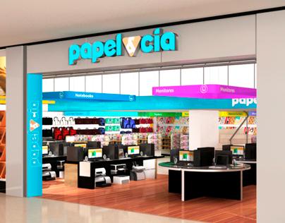 Sinalização Papel & Cia - Shopping Barra