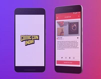App Design : Comic Con India