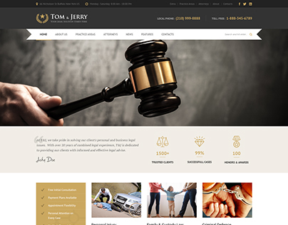 Tom & Jerry - A Free Law and Business Theme