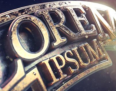 """Lorem Ipsum"" 3d Title Styleframes"