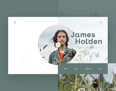 James Holden — Website design [concept]
