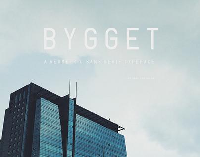BYGGET - a geometric sans serif typeface