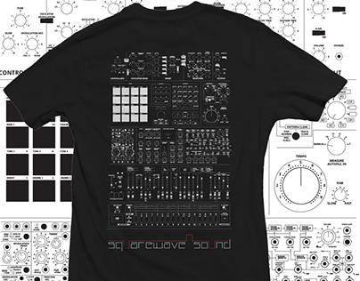 Squarewave Sound T-shirt design