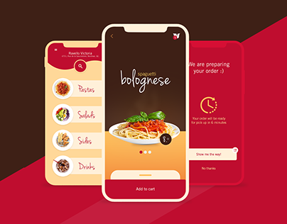 Ravello - Pasta to go! (UX/UI and art direction)