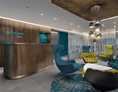 Hotel Novotel interior design visualization
