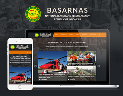 Mockup Redesign For Basarnas Web Portal