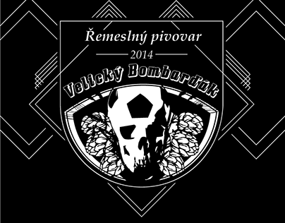 Velický Bombarďák: visual identity of craft brewery