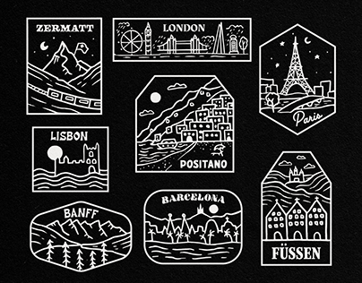 Worldwide City Patches
