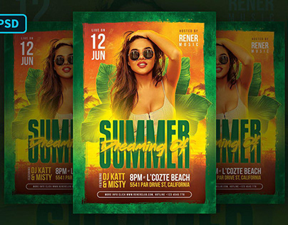 Summer Flyer Tropical Party Template