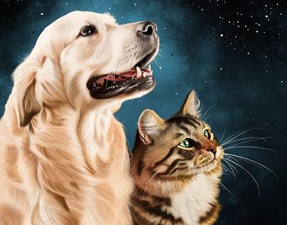 Animal Portraits Promotion Illustration