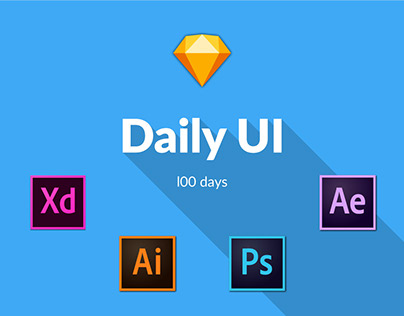 Daily UI design challenge for 100 days!!!