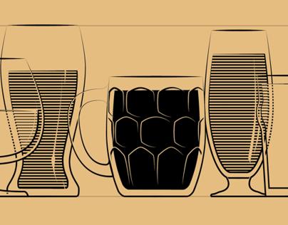 Beer Glasses Illustration System (Proof of Concept)
