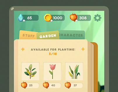 Game UI - Magic garden