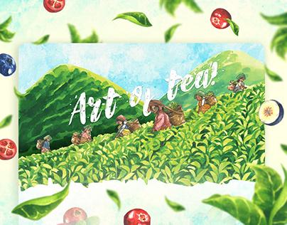 Kritea Green Tea - Landing Page Design