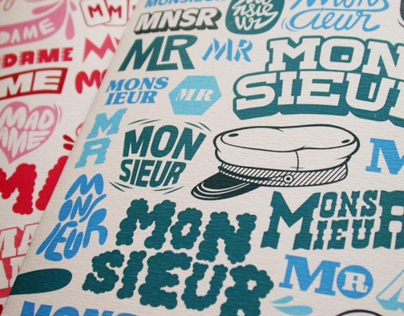 MONSIEUR, MADAME : 2 Book Set