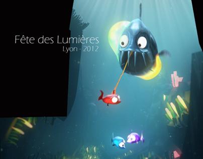 Fête des Lumières - Glouglou'ton - Lyon 2012