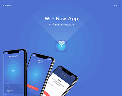 Wi-Now App - wi-fi social network