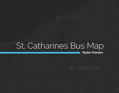St. Catharines Bus Map