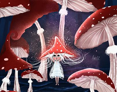 Magic childrens illustrations for books