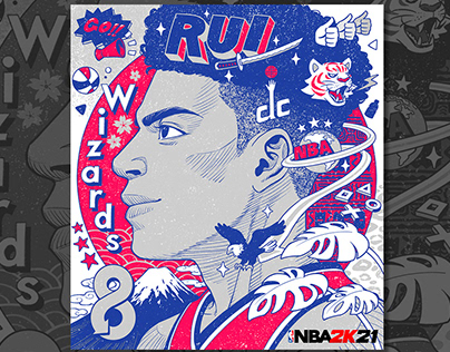 NBA 2K21 Birthday illustration of RUI HACHIMURA