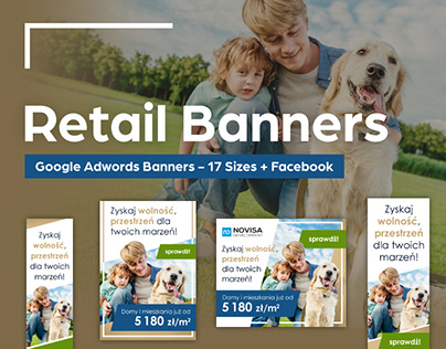 Retail Banners - Google Adwords Banners - 17 Sizes + FB