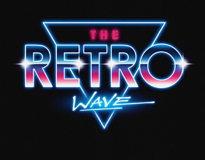 Synthwave typography Art