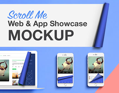 Scroll Web App Showcase Mockup - iphone7 | Macbook Air