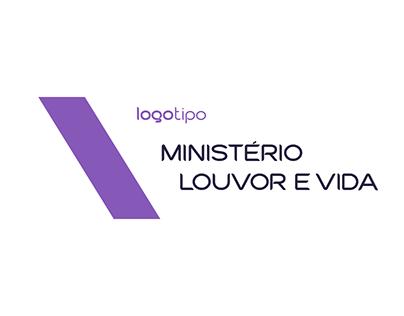 Logo Min. Louvor e Vida