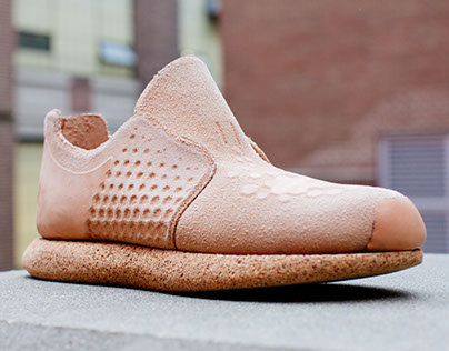 CNC-Milled Leather Sneaker