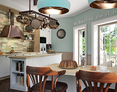 Cottage in Moscow (kitchen)