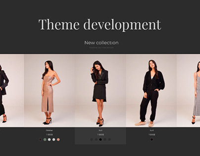 Exclusive online store - theme development