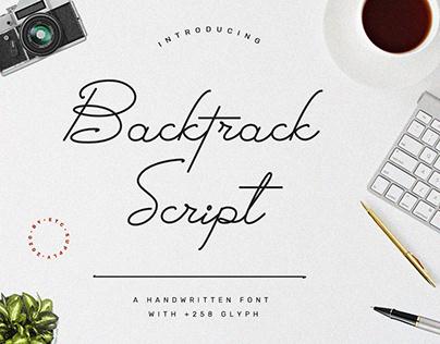 BacktrackScript| A Handwritten Font