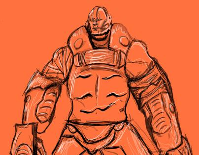 Rough sketch of steel