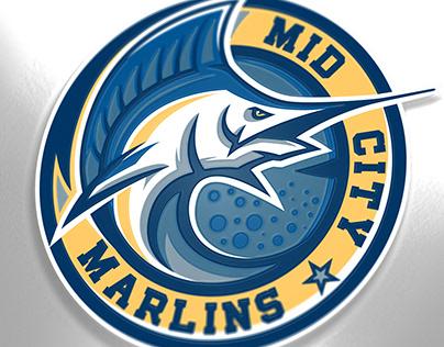Mid City Marlins sport logo