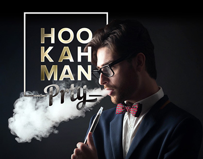 Hookah man party Landing page