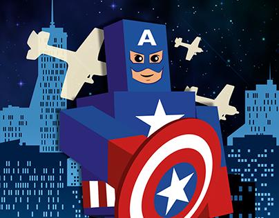 Captain América and The Avengers - Diseño Editorial