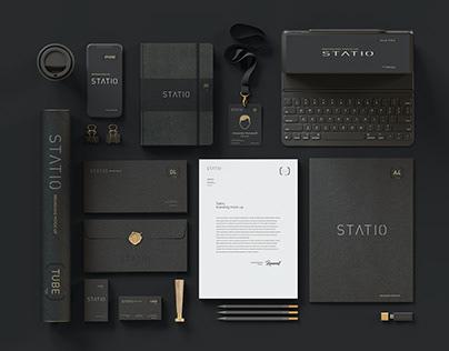 STATIO: Stationary Corporate Mockup Black Edition