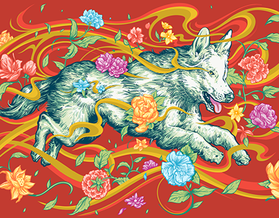 Adobe Chinese New Year 2018 Illustration