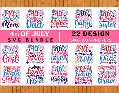 4th of JULY SVG Bundle Vol- 06, T shirt Design