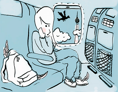 "Magazin Illustrations ""Das schöne Nest"" Schoolproject"