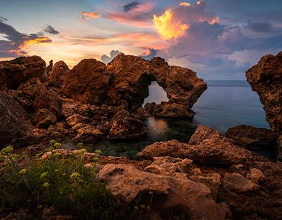 Natural windows of Malta