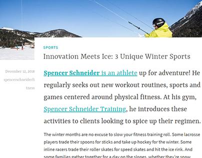 3 Unique Winter Sports - Spencer Schneider